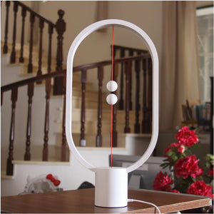 HZFCEW Heng Balance LED Table Lamp Ellipse Magnetic Mid-air Switch USB Power Warm White Eye-Care Night Light Decoration - thegsnd