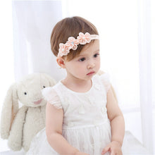 Load image into Gallery viewer, Headband Cotton Soft Sole Flower Shoes Set For Newborn Baby Girl Christening bed Shoes Baptism Fille Cute Ivory First Walkers - thegsnd