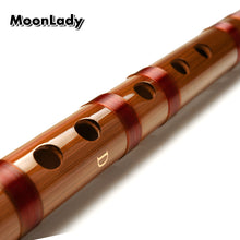 Load image into Gallery viewer, High Quality Key G Handmade Bamboo Flute Dizi With Flute Accessories Chinese Knot, Dimo and Cleaning White Brass - thegsnd