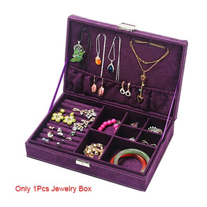 High Quality Women Makeup Organizers Jewelry Bracelet Necklace Ring Earrings Box Beauty Travel Cosmetics Display Container Case - thegsnd