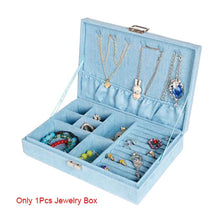 Load image into Gallery viewer, High Quality Women Makeup Organizers Jewelry Bracelet Necklace Ring Earrings Box Beauty Travel Cosmetics Display Container Case - thegsnd