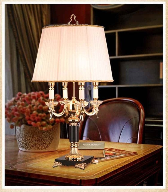 High quality Luxury fashion black crystal table lamp bedroom bedside lamp lamps brief modern decoration led table lamp - thegsnd