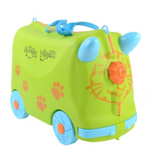 Hot Fashion Travel Luggage Locker Boy Girl Cars Toy Box Suitcase Can Sit To  Ride Baby Check Box Children Holiday Gift Bear 50kg