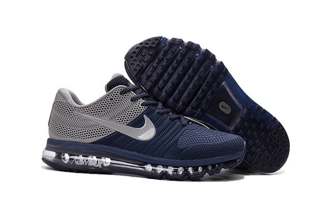 Nike Air Max 2017 Running Shoes Black Blue For Sale