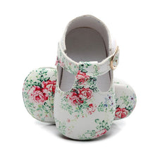 Load image into Gallery viewer, Hot sale Newborn baby moccasins PU Leather baby girl shoes soft sole first walker Princess Ballet Shoes 0-18M mary jane shoe - thegsnd
