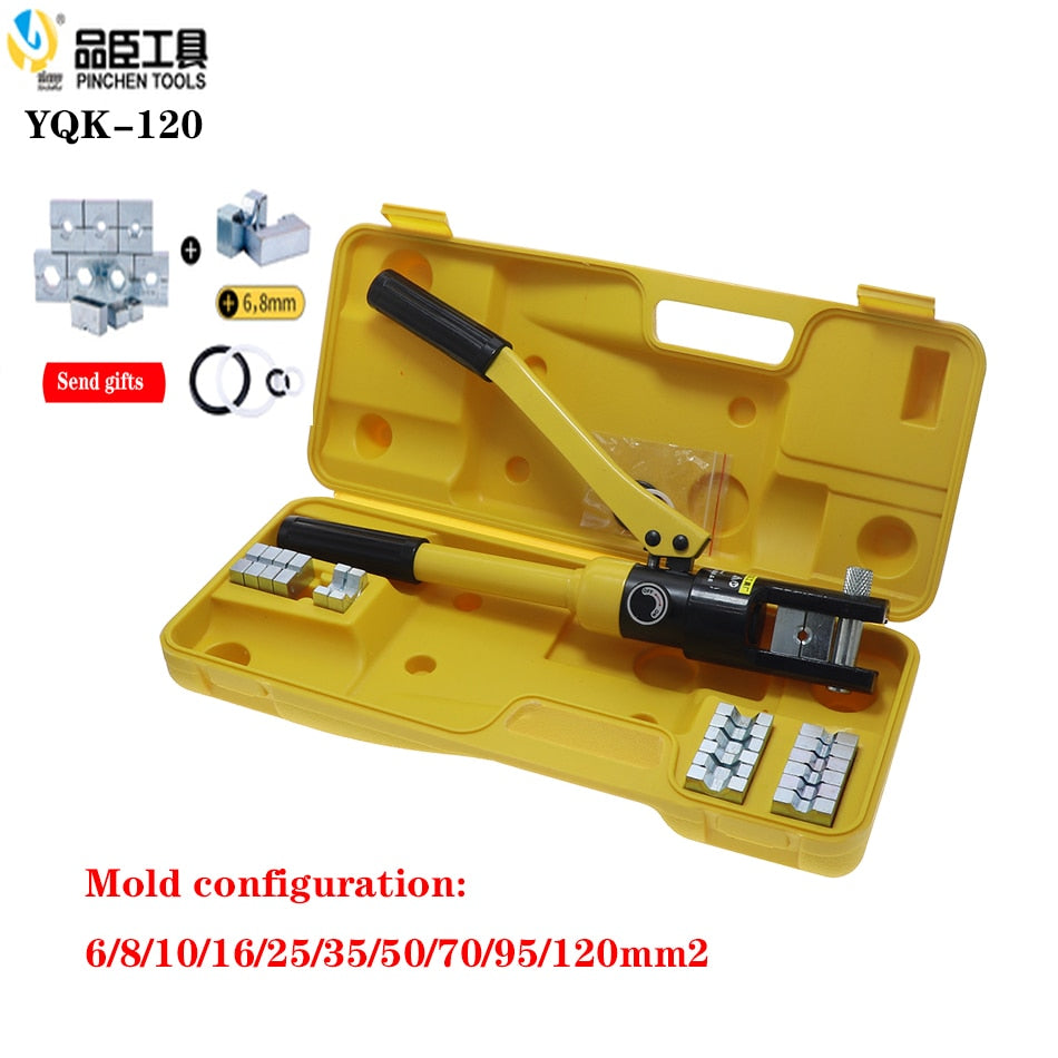 Hydraulic Crimping Tool Hydraulic Compression Plier Hydraulic Crimping Plier YQK-120 Range 6-120 Hydraulic wire clamp - thegsnd