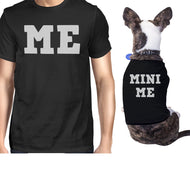 Mini Me Small Dog and Owner Matching Shirts For Small Pets ONLY-Apparel & Accessories-365 Printing-Black-XX-Large-Pet Large-thegsnd