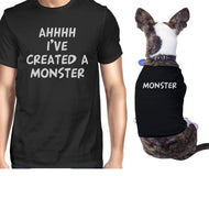 Created A Monster Small Dog and Owner Matching Shirts Unique Gift-Apparel & Accessories-365 Printing-Black-XX-Large-Pet Large-thegsnd