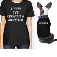 Created A Monster Small Pet Owner Matching Gift Outfits Dog Lovers-Apparel & Accessories-365 Printing-Black-XX-Large-Pet Large-thegsnd
