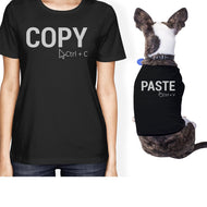 Copy And Paste Small Pet Owner Matching Gift Outfits Small Dog ONLY-Apparel & Accessories-365 Printing-Black-XX-Large-Pet Large-thegsnd