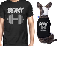 Beast In Training Small Dog and Owner Matching Shirts Dog Mom Gifts - thegsnd