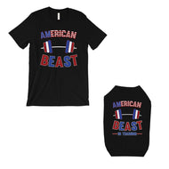 American Beast Training Small Dog and Owner Matching Shirts Funny - thegsnd