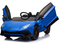 Mini Moto Lamborghini 12v Blue (2.4ghz Rc)-Big Kid Toys-Mini Motos-thegsnd