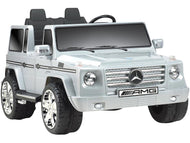Mercedes Benz G55 12v Truck Gray-Big Kid Toys-NPL-thegsnd