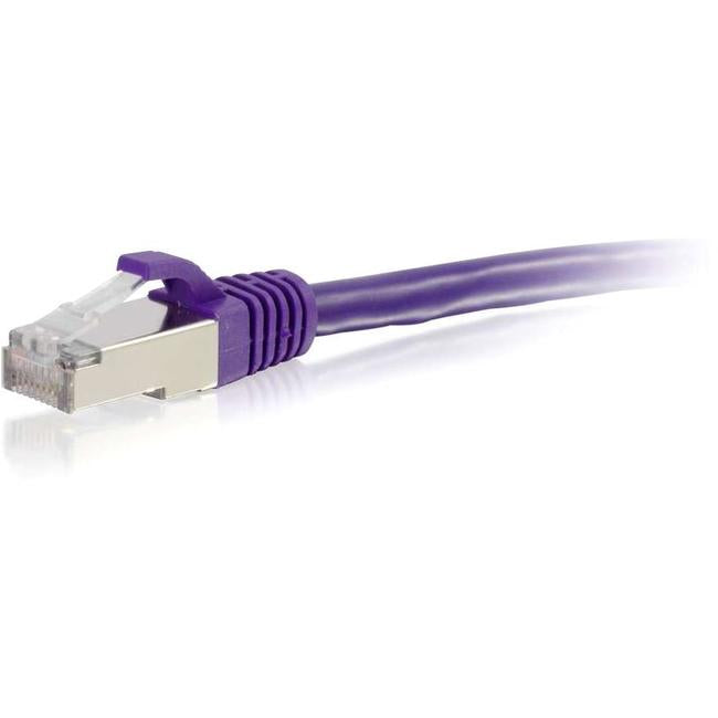 C2G-9ft Cat6 Snagless Shielded (STP) Network Patch Cable - Purple - thegsnd