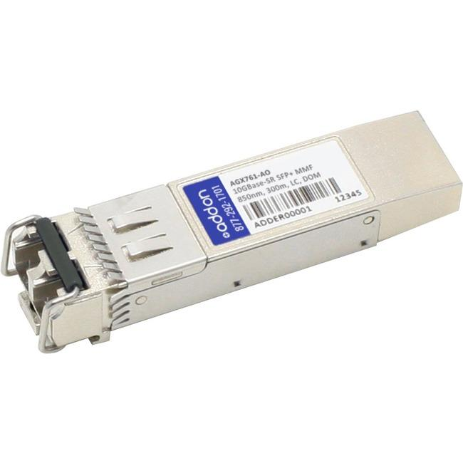 AddOn Netgear AGX761 Compatible TAA Compliant 10GBase-SR SFP+ Transceiver (MMF, 850nm, 300m, LC, DOM) - thegsnd