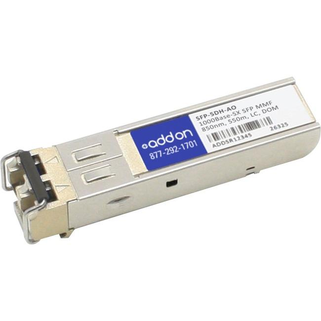 AddOn Rad SFP-5DH Compatible TAA Compliant 1000Base-SX SFP Transceiver (MMF, 850nm, 550m, LC, DOM) - thegsnd