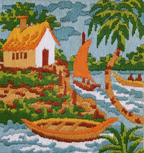 Serene Point thread Painting, Embroidary, Threatning (Multi Color_36*36).-wk_wallet-thegsnd