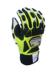 Impact resistant. Cut Resistant. Anti-Vibration. High Visibility. Designed for total hand protection glove(medium,green) - thegsnd