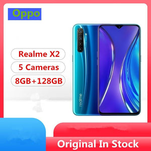 "In Stock Oppo Realme X2 4G LTE Phone Snapdragon 730G Android 9.0 6.4"" 3D Glass 64.0MP 5 Cameras 8GB RAM 128GB ROM NFC 4K Video - thegsnd"