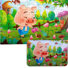 Load image into Gallery viewer, Iron Box Wood Puzzle 60 Pieces/box 12 Chinese Zodiac Wooden Jigsaw Puzzles Kids Baby Games Toy Wood Puzzles Toys-Wooden Toy-thegsnd-Pig-United States-thegsnd