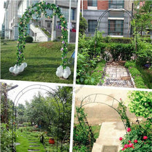 Load image into Gallery viewer, Iron curved wedding arch frame industrial garden park cold scaffolding tools home decoration accessories - thegsnd