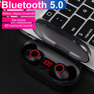 J29 Bluetooth 5.0 Tws Battery Display Mini Wireless Ear Buds Twins Earphone Headphones With Battery Case Hands Free - thegsnd