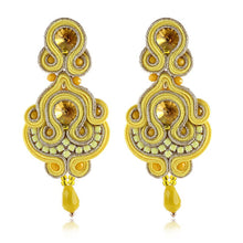Load image into Gallery viewer, KPACTA Fashion Simplicity Ethnic Hanging Earring Jewelry For Women Rhinestone Soutache Handmade Process Drop Earring Oorbellen - thegsnd