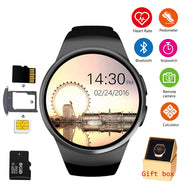 KW18 Bluetooth Smart Watch Phone Full Screen Support SIM TF Smartwatch Heart Rate for IOS iPhone Android Samsung Xiaomi PK KW88 - thegsnd
