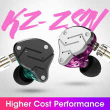Load image into Gallery viewer, KZ ZSN Metal Earphones Hybrid technology 1BA+1DD HIFI Bass Earbuds In Ear Monitor Headset Sport Noise Cancelling Headphones - thegsnd