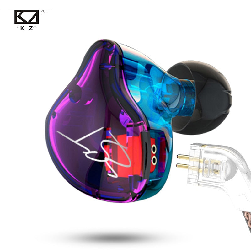 KZ ZST Bluetooth Earphones 1DD+1BA Driver Dynamic & Armature in Ear Monitors Noise Isolating HiFi Music Sports Earbuds Headset - thegsnd