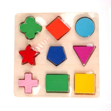 Load image into Gallery viewer, Kids Puzzle Toys Study Birthday Gift for Kids Colorful Square Shape Montessori Wooden Math Toy Early Educational Learning Puzzle-Wooden Toy-thegsnd-Green-United States-thegsnd