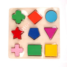 Load image into Gallery viewer, Kids Puzzle Toys Study Birthday Gift for Kids Colorful Square Shape Montessori Wooden Math Toy Early Educational Learning Puzzle-Wooden Toy-thegsnd-thegsnd
