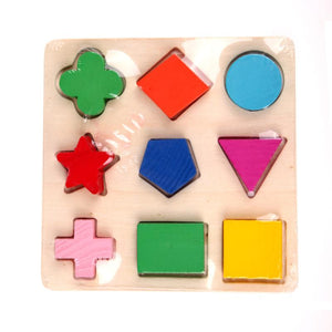 Kids Puzzle Toys Study Birthday Gift for Kids Colorful Square Shape Montessori Wooden Math Toy Early Educational Learning Puzzle-Wooden Toy-thegsnd-thegsnd