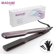 Korean Hair Flat Iron Wide Plate Ceramic Hair Straightener 1 1/2 inch Dual Voltage Bivolt Chapinha 3D Floating Styling Tools - thegsnd