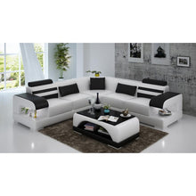 Load image into Gallery viewer, L shape dark brown 7 seater sectional sofa set designs with arm - thegsnd