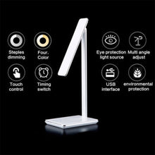 Load image into Gallery viewer, LED Table Desk Lamp 2 In 1 QI Wireless Charging Creative Eye Protection Multi-Function Reading Light For Mobile Phone charge - thegsnd