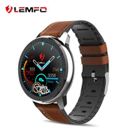 LEMFO ELF2 PPG + ECG Smart Watch 1.3 Inch Full Round Touch Screen 360*360 HD Resolution Stainless Steel Case Strap Replaceable - thegsnd
