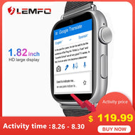LEMFO LEM10 Smart Watch 4G 1.88 inch Big Screen OS Android 7.1 3G RAM 32G ROM LTE 4G Sim Camera GPS WIFI Heart Rate Men Women - thegsnd
