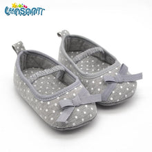 Load image into Gallery viewer, LONSANT 2018 Cute Infant Girls Shoes Dot Bowknot Soft Bottom Prewalker Spring Autumn Children Shoes First Walker Dropshipping - thegsnd