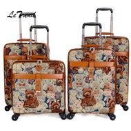 Travel Luggage Cover Balloon Aircraft Art Abstract Watercolor Vintage Suitcase Protector Fits 26-28 Inch Washable Baggage Covers
