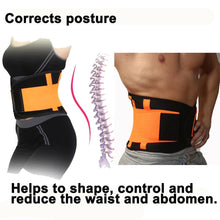 Load image into Gallery viewer, Lower Back Support Belt Corset For The Lumbar Back Brace New Elastic Adjustable Orthopedic Posture Corrector Trimmer Men Women - thegsnd