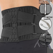 Load image into Gallery viewer, Lumbar Waist Support Belt Strong Lower Back Brace Support Corset Belt Waist Trainer Sweat Slim Belt for Sports Pain Relief New - thegsnd