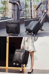 "Luxury Travel Suitcase set Rolling Spinner Luggage Women Trolley case with Wheels Man 20"" boarding box carry on Travel Bag Trunk - thegsnd"