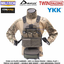 Load image into Gallery viewer, MILITECH TW FCSK 2.0 Advanced Slickster Ferro Plate Carrier With MFC 2.0 Main Pouch And Sub Abdominal Pouch Loadout Set Deal - thegsnd