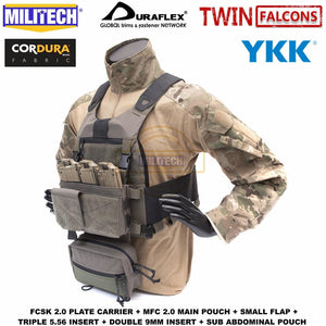 MILITECH TW FCSK 2.0 Advanced Slickster Ferro Plate Carrier With MFC 2.0 Main Pouch And Sub Abdominal Pouch Loadout Set Deal - thegsnd