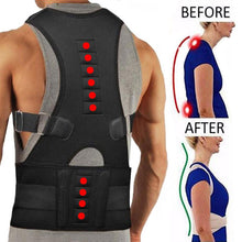 Load image into Gallery viewer, Magnetic Back Support Strap Waist Protector Upper Back Posture Corrector Neoprene Waist Support Adjustable Adult Correction Belt - thegsnd