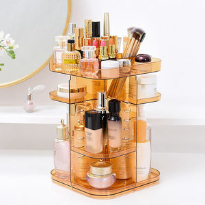 Makeup Tools Holder Cosmetic Organizer Makeup Jewelry Square Organizer Rack Shelf For Women - thegsnd