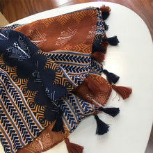 Load image into Gallery viewer, Marte&Joven Retro Geometric Printing Warm Scarf Shawls for Women Fashion Tassels Brown Long Wraps Ladies Spring Autumn Pashmina - thegsnd