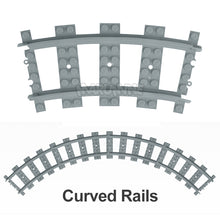 Load image into Gallery viewer, Marumine City Trains Track Rail 10-100 Pcs/Lot Straight & Curved Rails Variable Soft Tracks Train Building Blocks Bricks Model-Kids Playing Zone-thegsnd